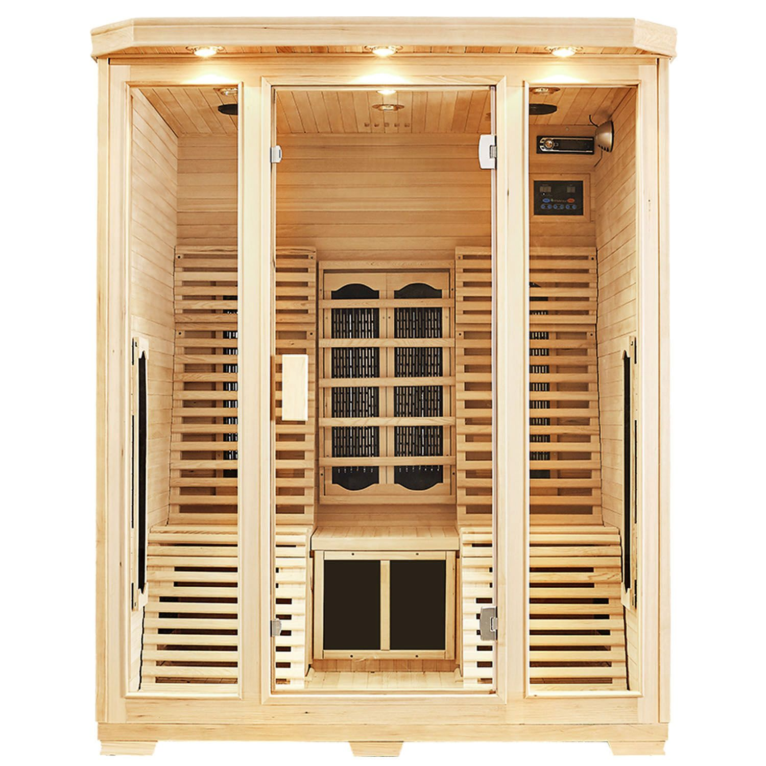 infrarotkabine infrarot w rmekabine infrarotsauna sauna ebay. Black Bedroom Furniture Sets. Home Design Ideas