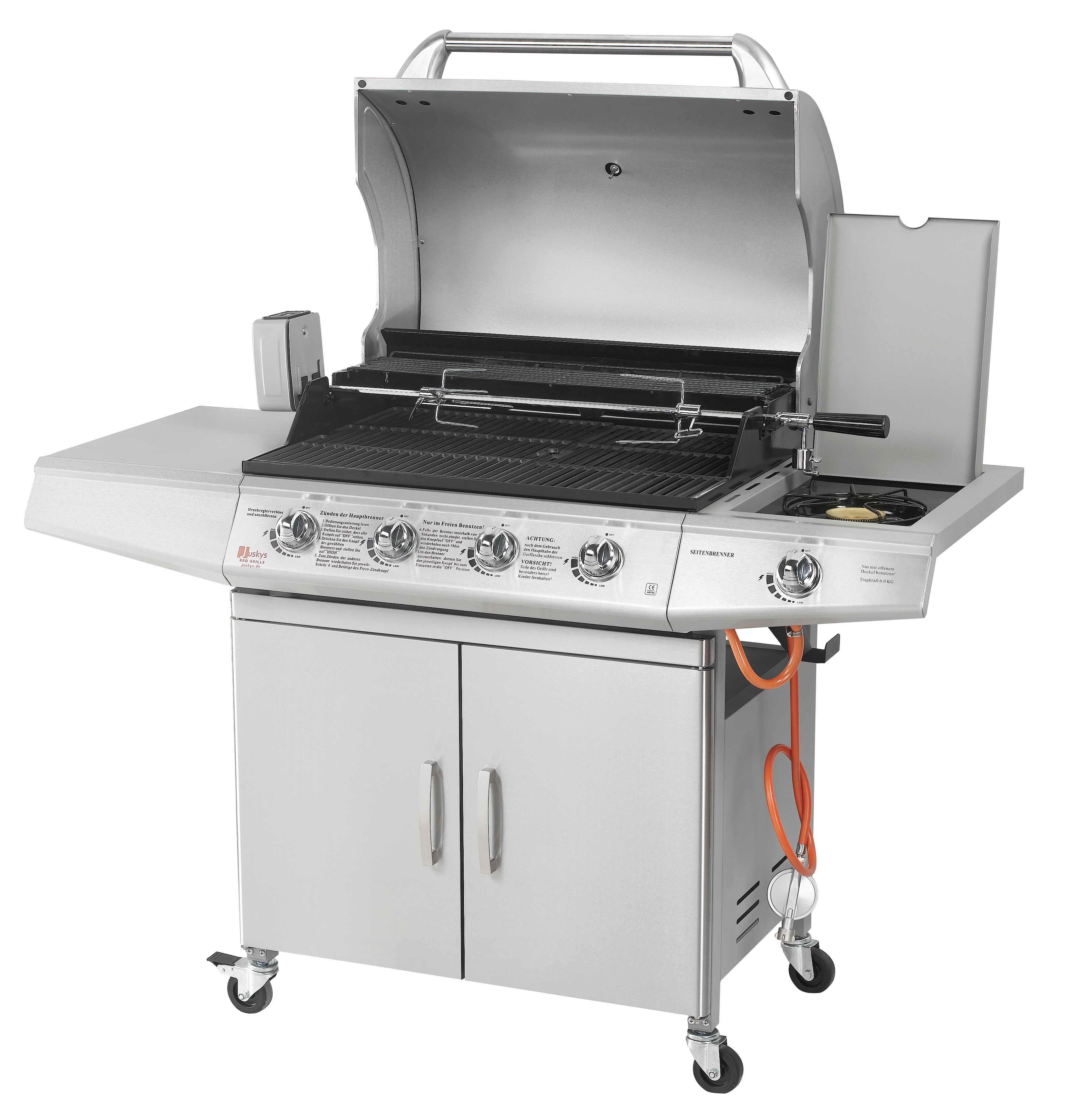 bbq gasgrill grillwagen edelstahl gas brenner barbecue gartengrill broilcue ebay. Black Bedroom Furniture Sets. Home Design Ideas