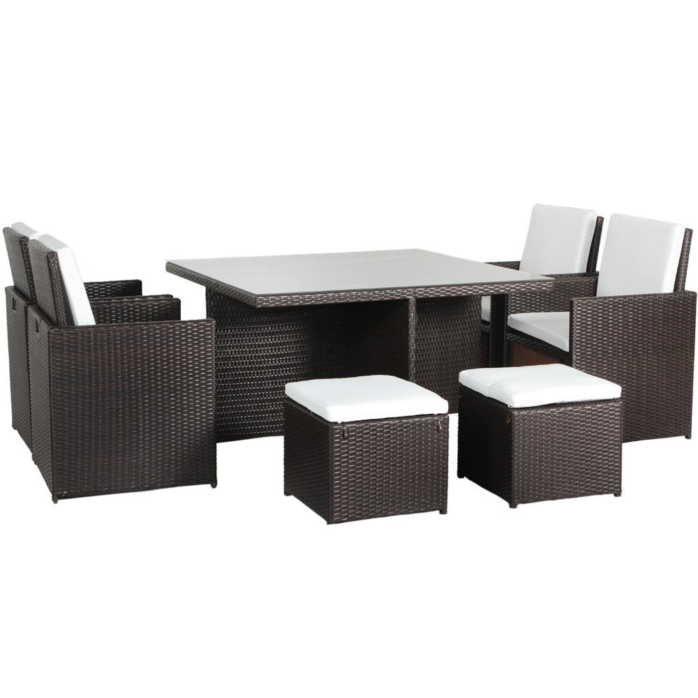 polyrattan gartenm bel essgruppe gartenset sitzgruppe rattan aluminium artlife ebay. Black Bedroom Furniture Sets. Home Design Ideas