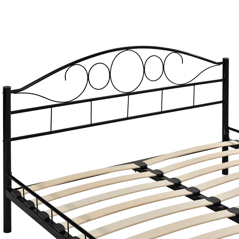 metallbett bettgestell doppelbett bettrahmen mit lattenrost metall bett neu ebay. Black Bedroom Furniture Sets. Home Design Ideas