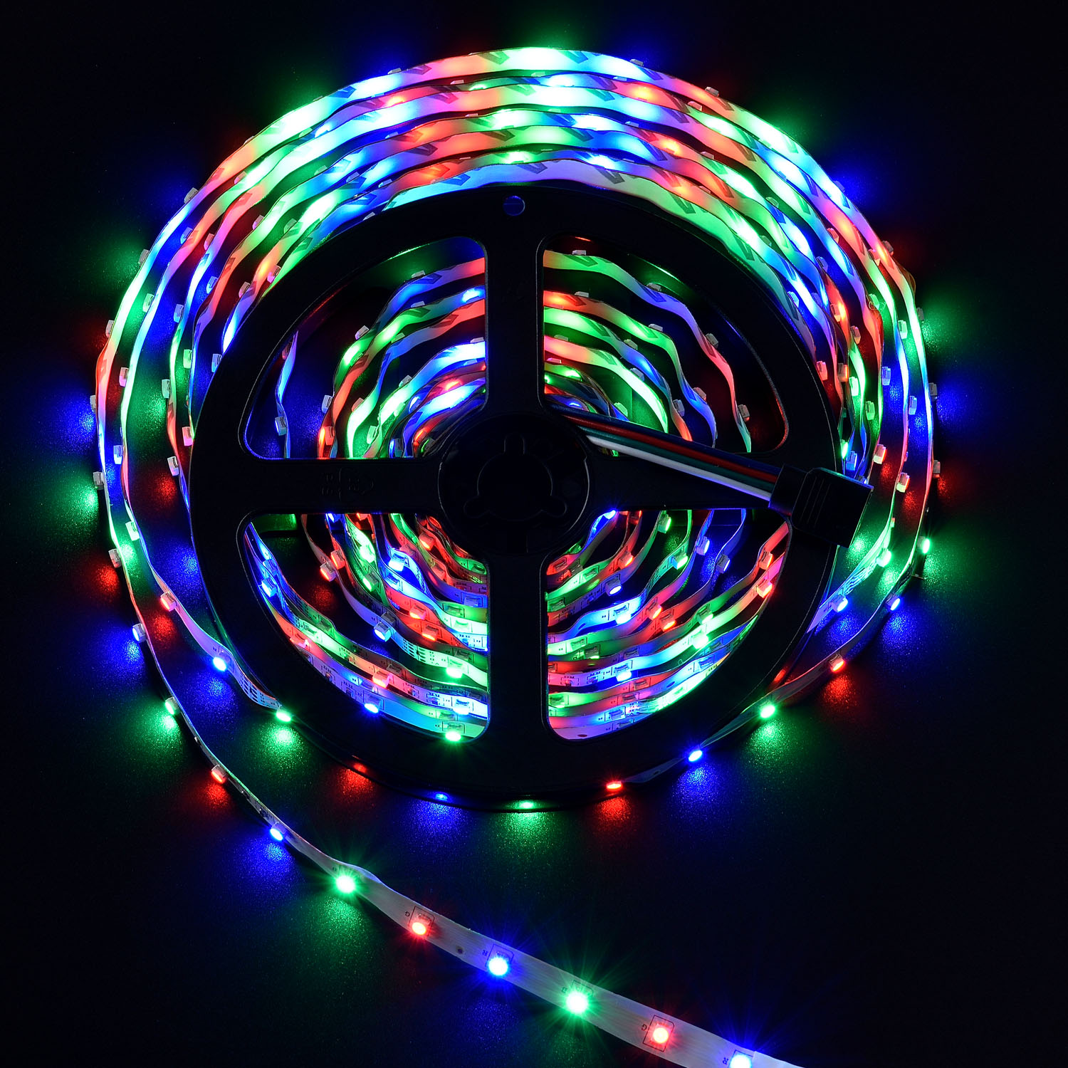 led streifen 5m lichterkette beleuchtung partylicht rgb led stripe band strip ebay. Black Bedroom Furniture Sets. Home Design Ideas