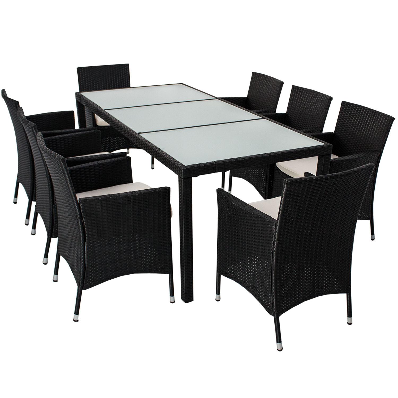 polyrattan essgruppe gartenm bel rattan sitzgruppe esstischgruppe gartenset neu ebay. Black Bedroom Furniture Sets. Home Design Ideas