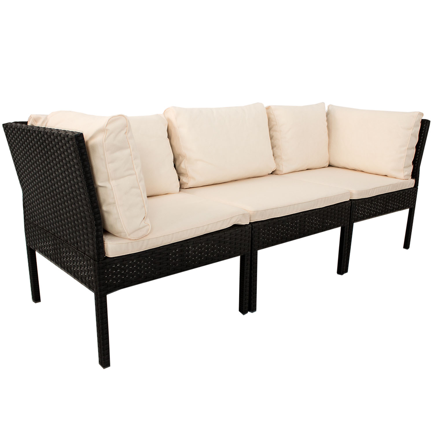 polyrattan gartenm bel ecksofa lounge rattan sitzgruppe. Black Bedroom Furniture Sets. Home Design Ideas