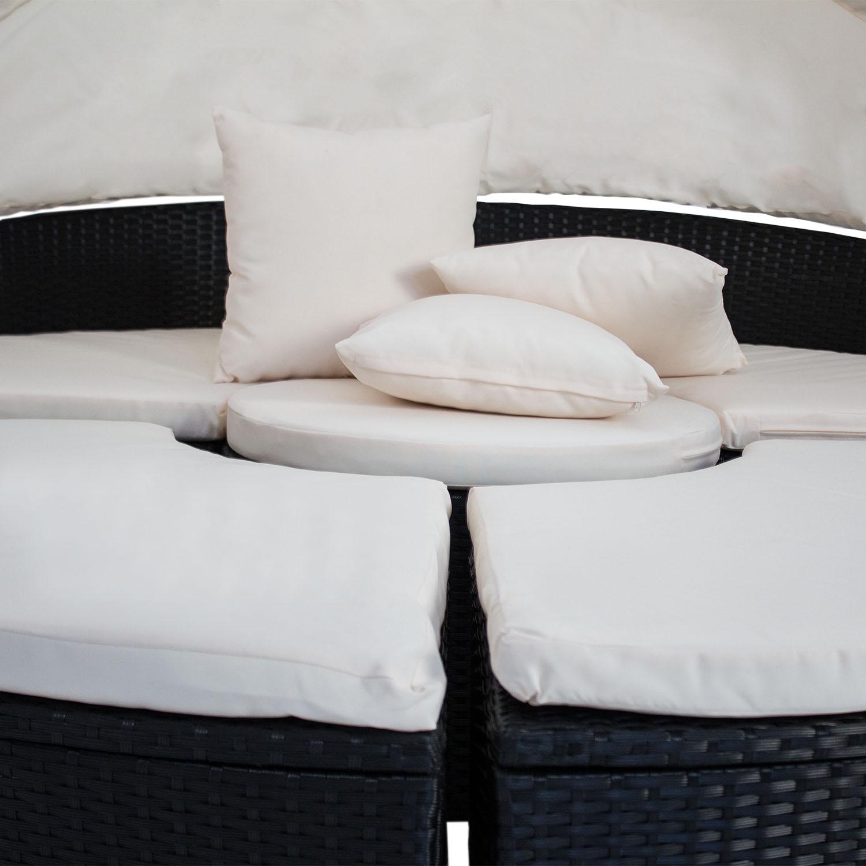 gartenm bel sonneninsel polyrattan gartenset gartenliege lounge rattan liege neu 4260304767085. Black Bedroom Furniture Sets. Home Design Ideas