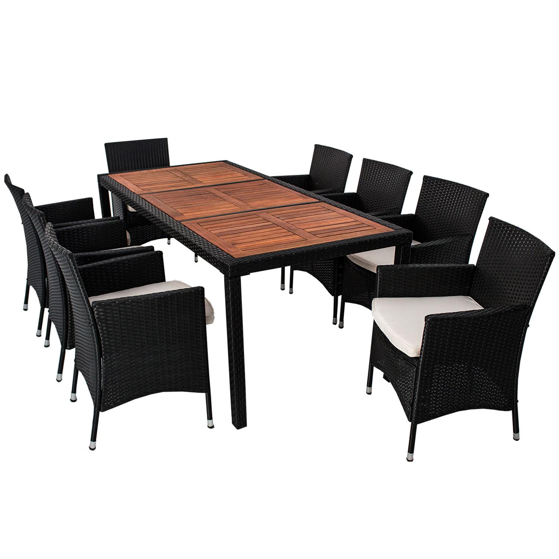 polyrattan gartenm bel essgruppe rattan esstischgruppe. Black Bedroom Furniture Sets. Home Design Ideas