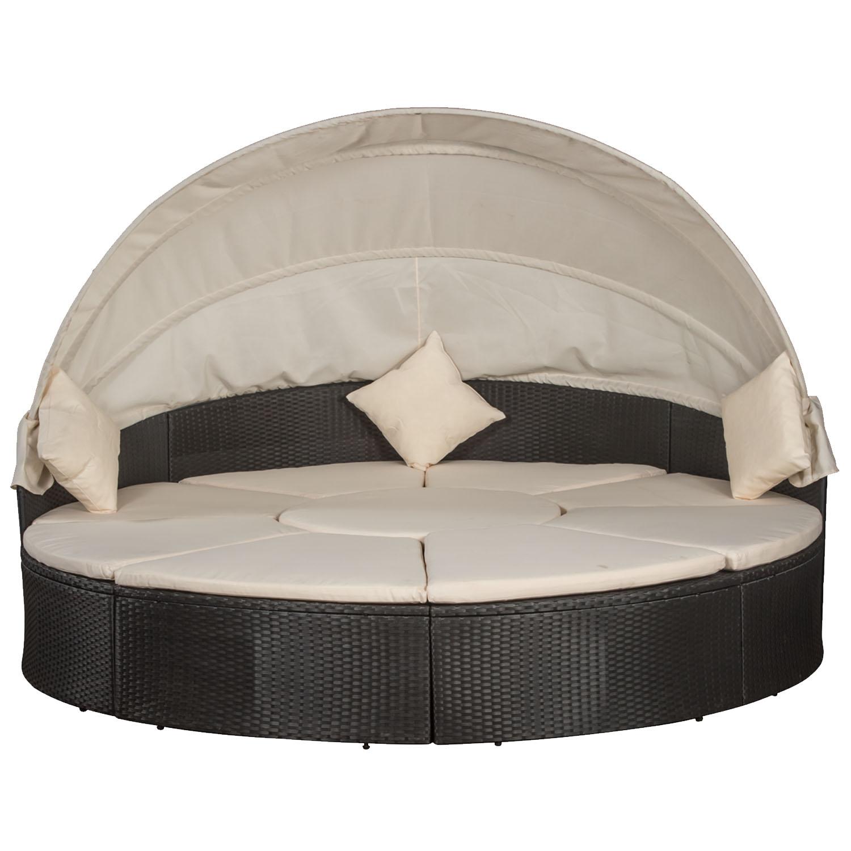 polyrattan sonneninsel gartenliege lounge rattan liege gartenm bel gartenset ebay. Black Bedroom Furniture Sets. Home Design Ideas