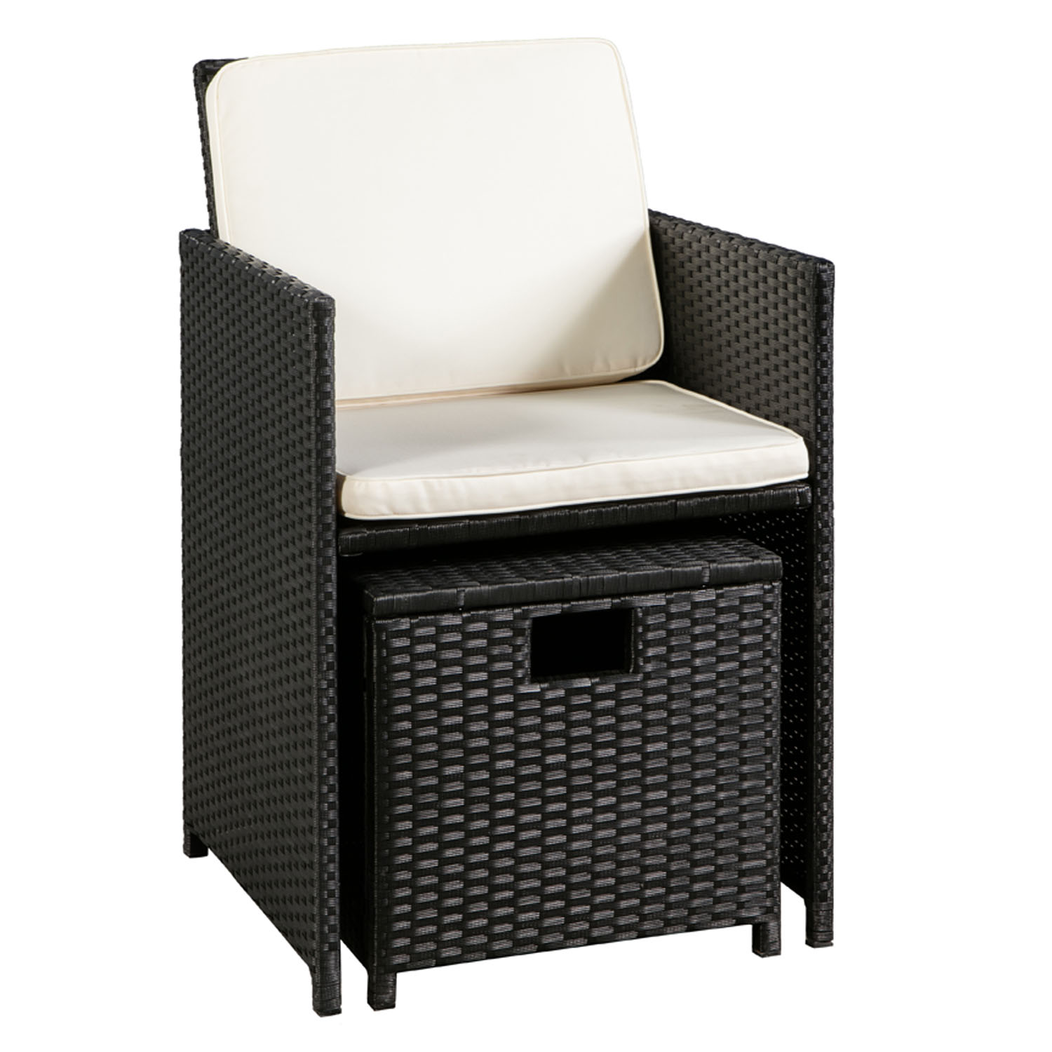 polyrattan gartenm bel cube essgruppe sitzgruppe rattan. Black Bedroom Furniture Sets. Home Design Ideas