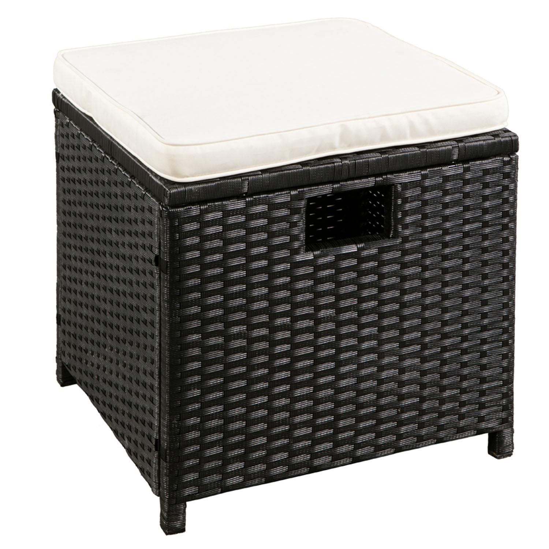 polyrattan gartenm bel cube essgruppe sitzgruppe rattan gartenset lounge neu ebay. Black Bedroom Furniture Sets. Home Design Ideas