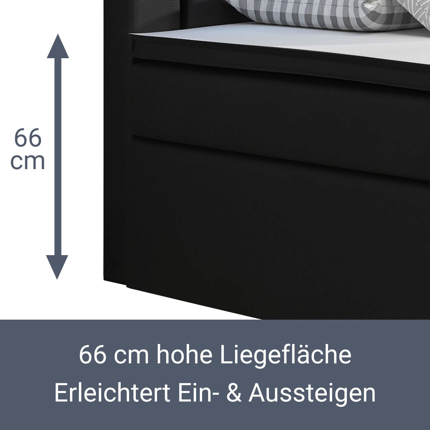 boxspringbett hotelbett federkern ehebett design led topper kunstleder artlife ebay. Black Bedroom Furniture Sets. Home Design Ideas