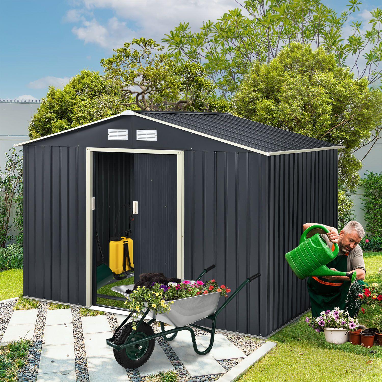 ger tehaus ger teschuppen schuppen pultdach satteldach schuppen gartenhaus ebay. Black Bedroom Furniture Sets. Home Design Ideas