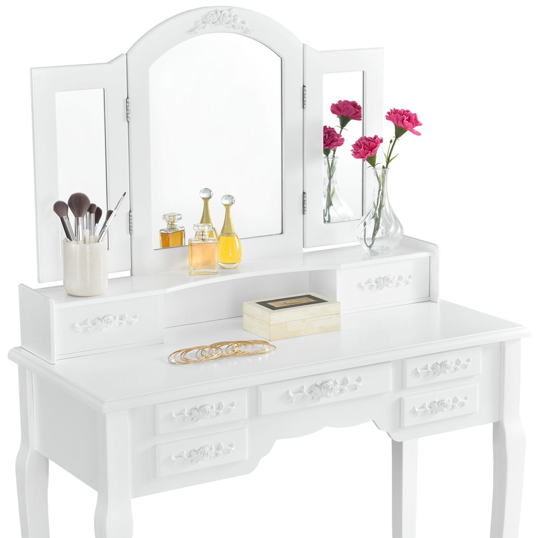 schminktisch hannah wei mit spiegel kaufen auf. Black Bedroom Furniture Sets. Home Design Ideas