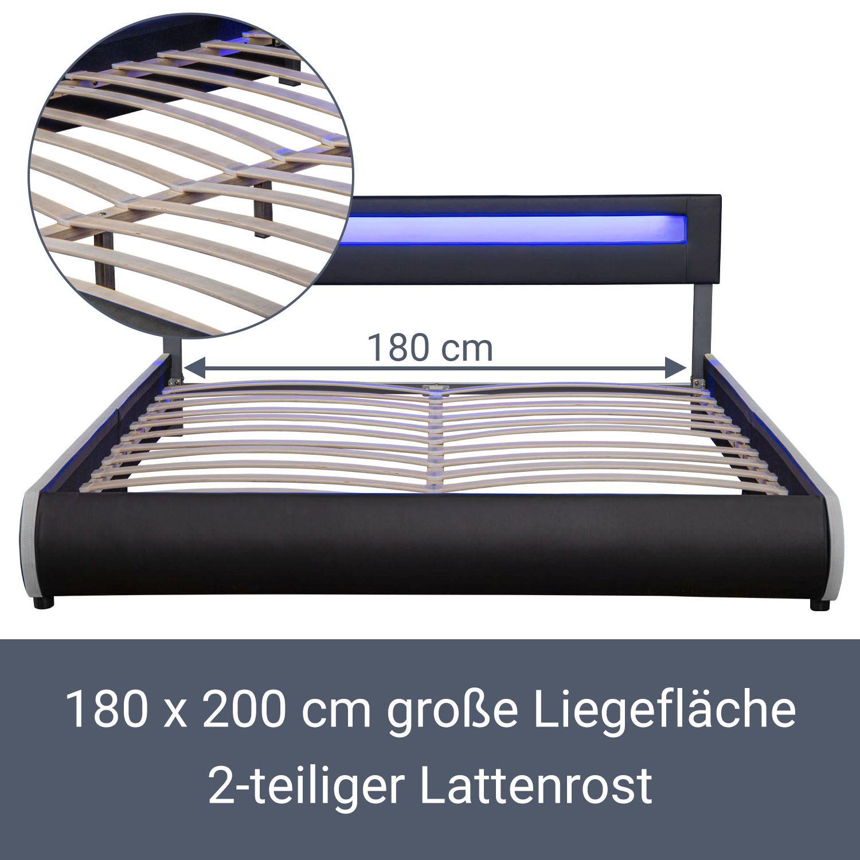 polsterbett matratze ehebett doppelbett bettgestell. Black Bedroom Furniture Sets. Home Design Ideas