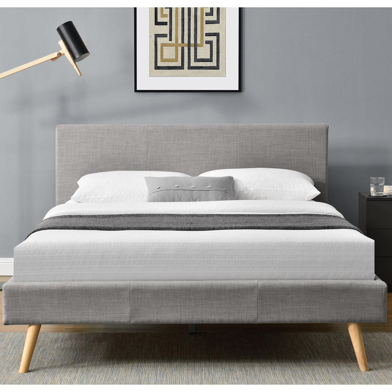 polsterbett bettgestell kaltschaummatratze 140x200 cm skandinavisches design ebay. Black Bedroom Furniture Sets. Home Design Ideas