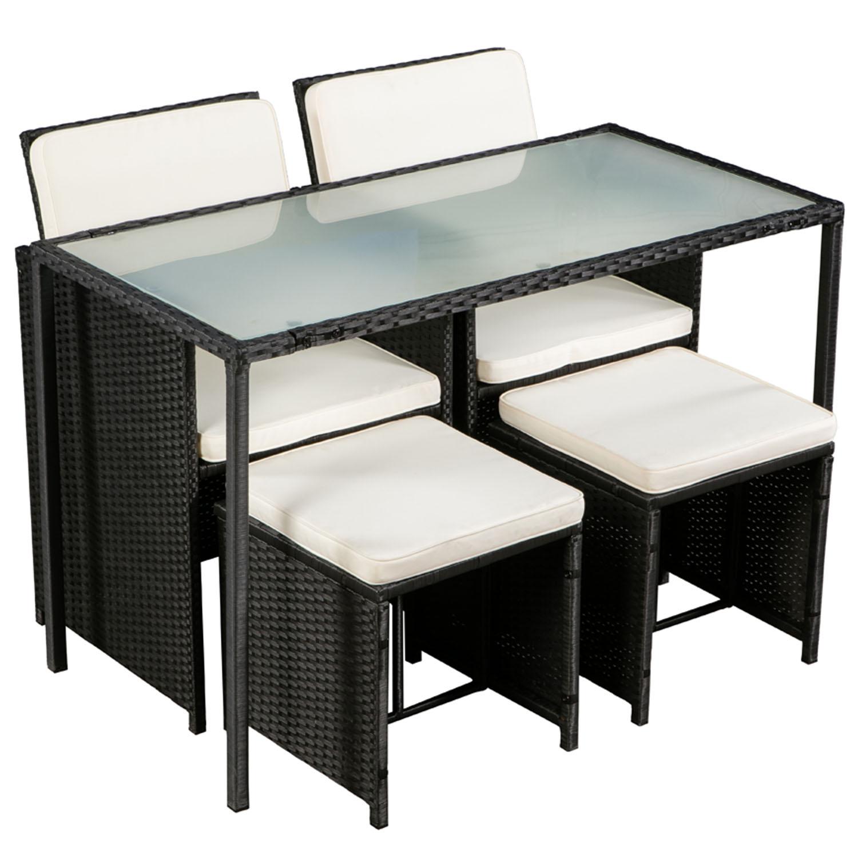 polyrattan gartenm bel cube essgruppe sitzgruppe rattan gartenset lounge artlife ebay. Black Bedroom Furniture Sets. Home Design Ideas