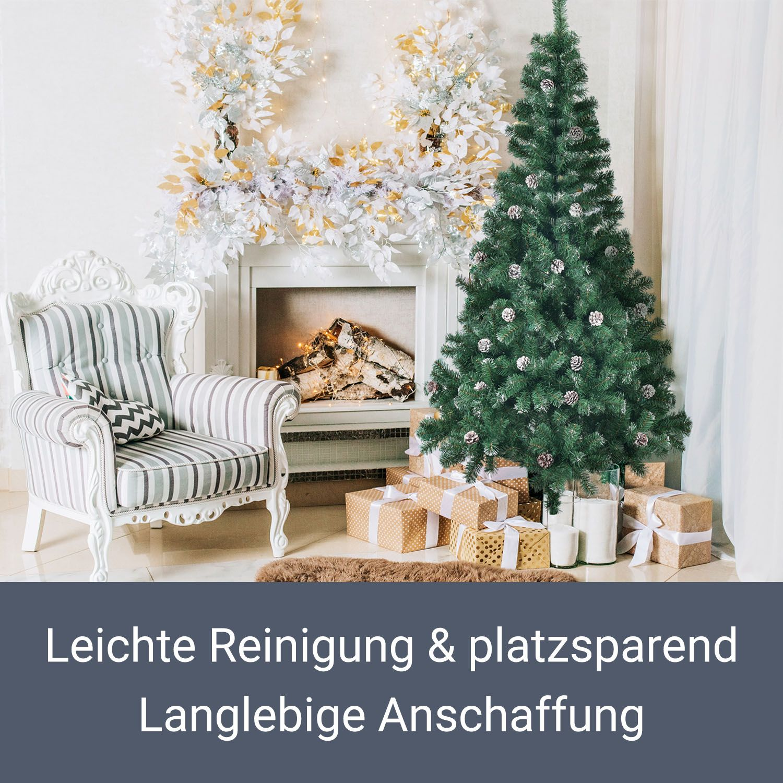 Weihnachtsbaum christbaum k nstlicher tannenbaum kunstbaum - Beleuchteter tannenbaum kunststoff ...