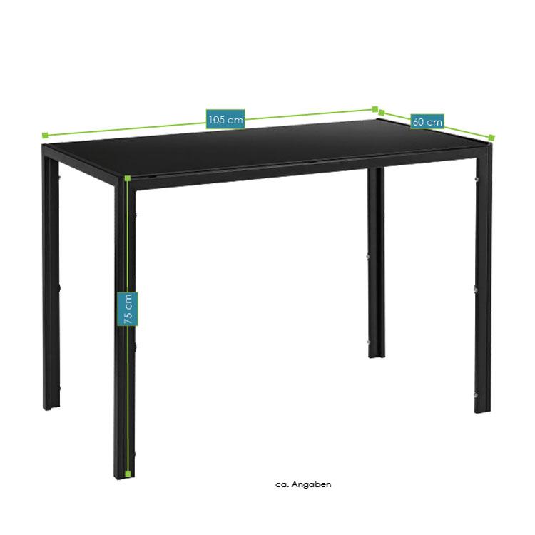 essgruppe sitzgruppe esstisch schwarz st hle tischset esszimmergarnitur metall ebay. Black Bedroom Furniture Sets. Home Design Ideas