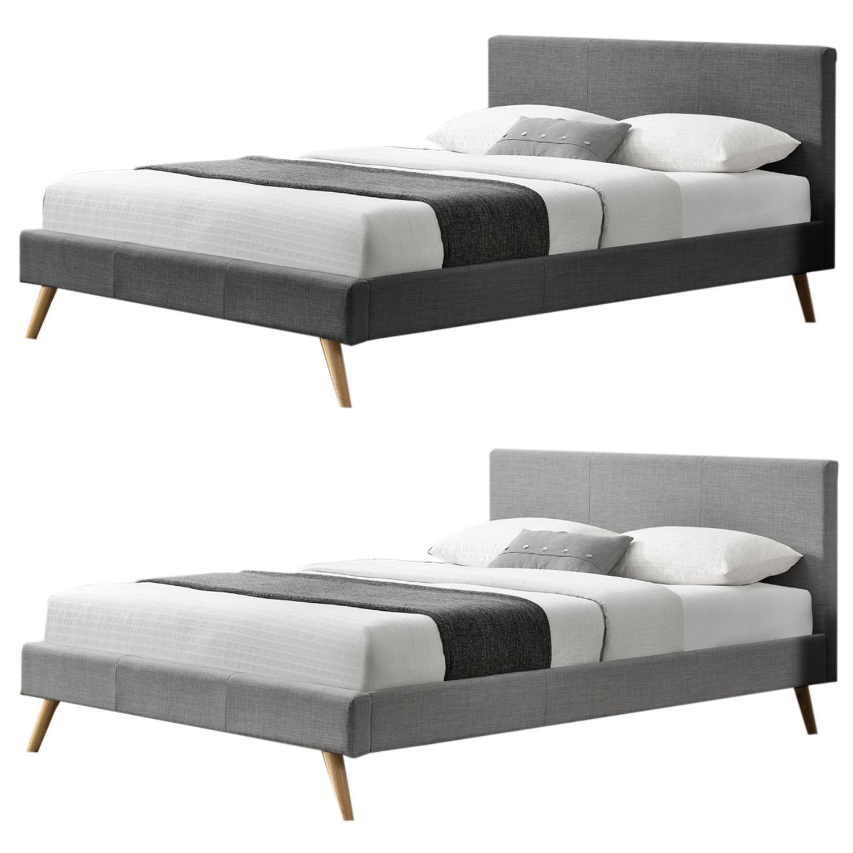 Polsterbett Doppelbett Bettgestell Bettrahmen Skandinavisches Design ...