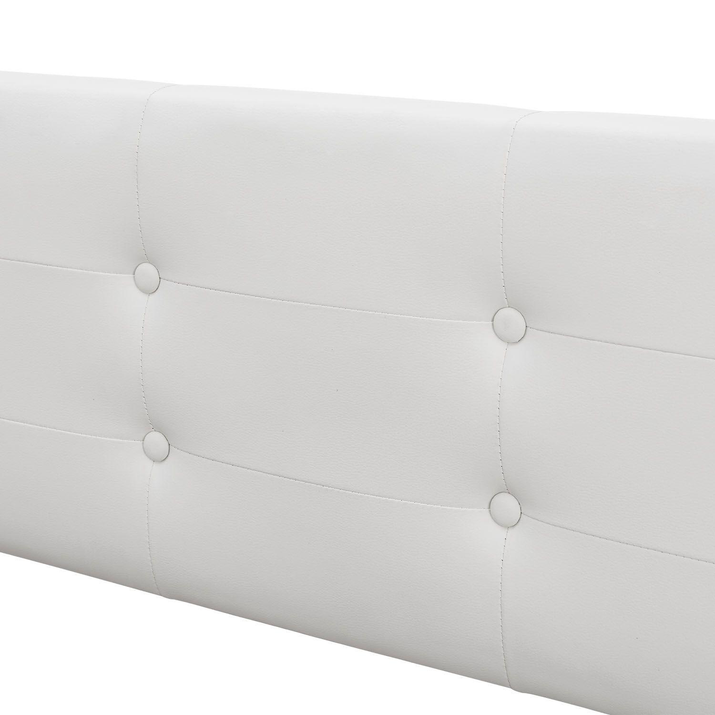 polsterbett doppelbett kunstlederbett bett bettgestell. Black Bedroom Furniture Sets. Home Design Ideas