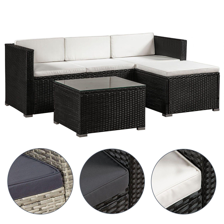 Mobilier de Jardin Poly Rotin Lounge En Rotin Salon Ensemble de jardin en rotin meubles ArtLife ®