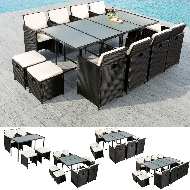 polyrattan gartenm bel essgruppe sitzgruppe rattan. Black Bedroom Furniture Sets. Home Design Ideas