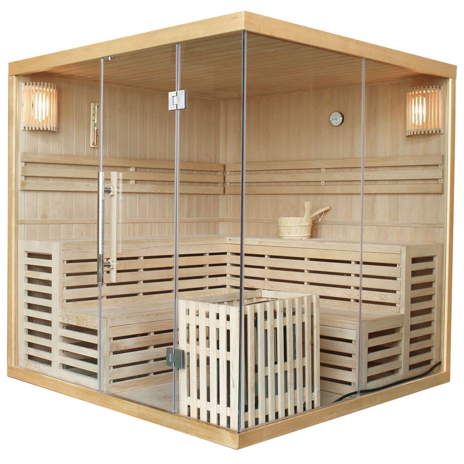 saunakabine massivholz sauna ecksauna harvia traditionell saunaofen artsauna ebay. Black Bedroom Furniture Sets. Home Design Ideas