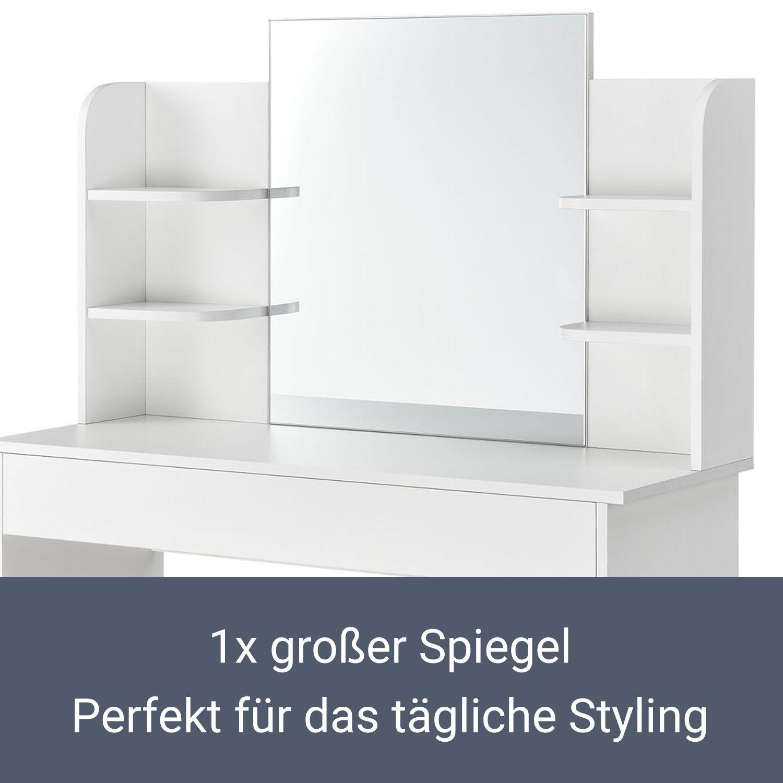 schminktisch frisiertisch kosmetiktisch kommode wei spiegel modern artlife ebay. Black Bedroom Furniture Sets. Home Design Ideas